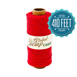Global Hemp Red 20# Test Waxed Hemp Twine