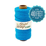 Global Hemp Turquoise 20# Test Waxed Hemp Twine