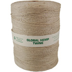 Global Hemp Natural 20# Test Waxed Hemp Twine - 1 Kilo