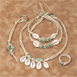 Hanging Cowrie Hemp Jewelry Kit