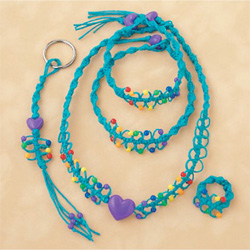 Turquoise Rainbow Hemp Jewelry Kit