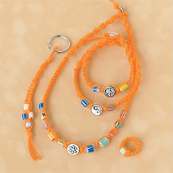 Hip Orange Hemp Jewelry Kit