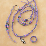 Purple Gecko Hemp Jewelry Kit