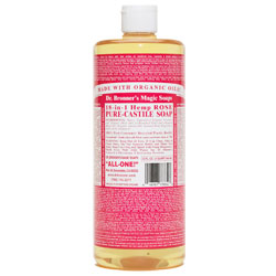 Dr. Bronner's Rose Liquid Hemp Soap