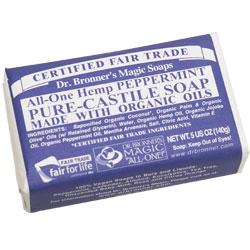 Dr. Bronner's Peppermint Hemp Bar Soap