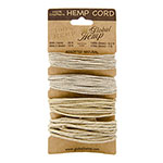 Global Hemp Assorted Natural Waxed Hemp Twine - 20# (1 mm), 48# (1.5 mm), 100# (2 mm), 170# (3 mm)