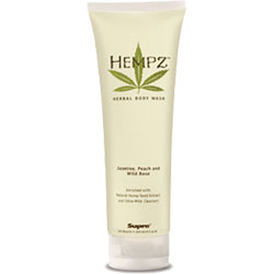 Hempz Body Wash Jasmine, Peach and Wild Rose - 9 oz