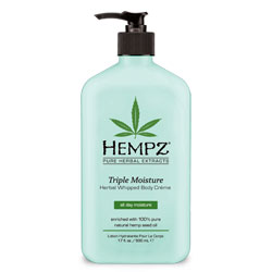 Hempz Triple Moisture Herbal Whipped Body Creme - 17 oz