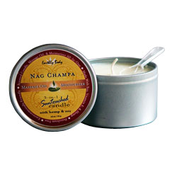 Earthly Body Nag Champa Scented Soy and Hemp Body Candle
