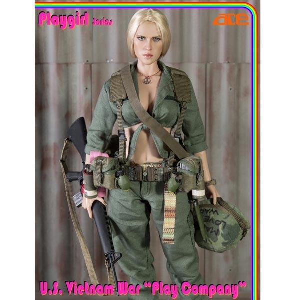 Boxed Figure: ACE Playgirl Series U S  Vietnam War Play Company (13029)