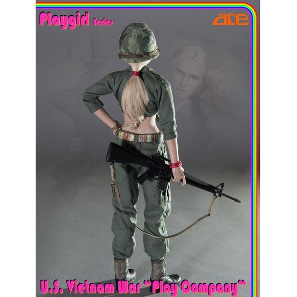 "1//6 ACE 13029 Playgirl Series US Vietnam War Play Company 12/"" Figure Body Model"