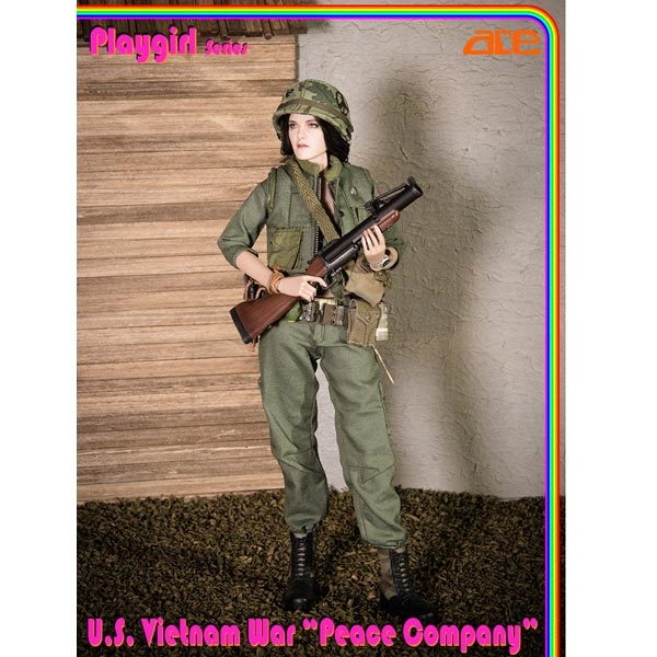 "ACE 13034 1//6 Scale PlayGirl US Vietnam War Peace Company 12/"" Figure Female Body"