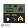 Insignia: Ace Patches (101st Airborne Division, Name Tab & US Army Tab)