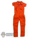 Suit: ACPlay Female Orange Short Sleeve Jumpsuit