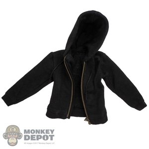 Coat: ACPlay Mens Black Hooded Jacket