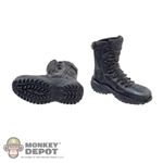 Boots: Art Figures Black Molded Tactical Boots