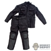 Uniform: Art Figures Black Combat Uniform w/Pads