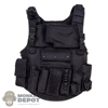 Vest: Art Figures Black Tactical Vest w/Pouches