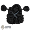Vest: Art Figures Mens Black tactical Vest w/Pouches