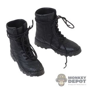 Boots: Art Figures Black Tactical Boots (Weathered)