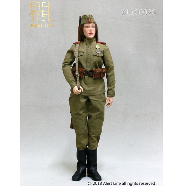AL Soviet Female Sniper 1//6 Scale Brown Camo Uniform Alert Line Figures