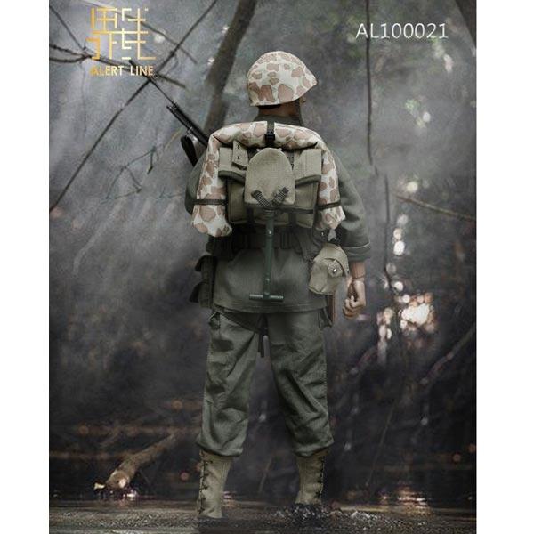 1//6 Scale Alert Line AL100021 WWII USMC BAR Rifle Gunner Figure Grenade Pouch