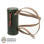 Gas Mask: Alert Line German WWII Gas Mask Canister w/Strap
