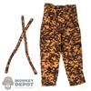 Pants: Alert Line Autumn Blurred Edge Pattern Reversible Pants