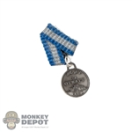 Medal: Alert Line WWII Russian Soviet Medal CCCP 3a OTBARY 1944 Silver Medal for service in the Russian Tank Corp