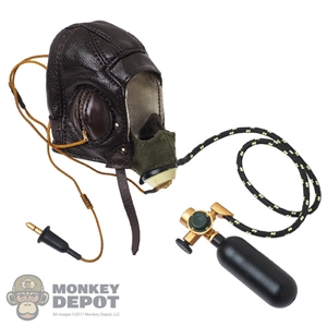 Helmet: Alert Line Mens RAF B-Type Flying Helmet w/D-Type Oxygen Mask