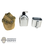 Canteen: Alert Line WWII US Water Bottle w/Pouch