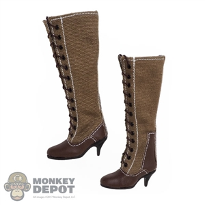 Boots: Alert Line Female WWII Tropical Canvas Tall w/Heels