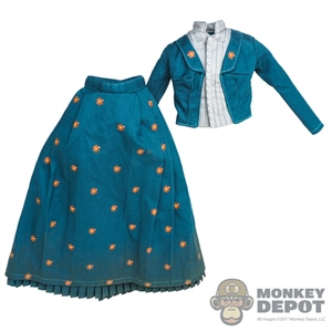 Outfit: Asmus Toys Female Blue Dress (Dirty)