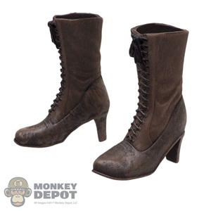 Boots: Asmus Toys Female Brown Molded Boots w/Feet (Dirty)