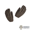 Hands: Asmus Toys Female Molded Brown Gloved Hands