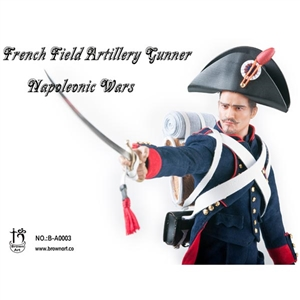 Boxed Figure: Brown Art French Field Artillery Gunner of Napoleonic Wars (B-A0003S)