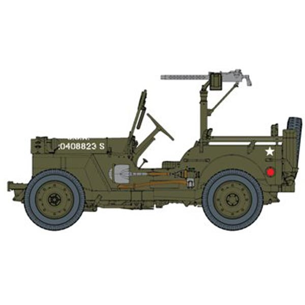 DRAGON 75050 U.S 1//4 Ton 4x4 Truck w//.30 cal Machine Gun Jeep