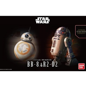 Model Kit: Bandai 1/12 Scale Star Wars BB-8 & R2-D2 (BAN-203220)