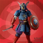 "Boxed Figure: Bandai 1/12 Scale Samurai Captain America ""Marvel"" (BAN-19194)"