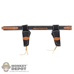 Belt: Battle Gear Toys Black Western Leather w/Dual Colt .45 Hosters