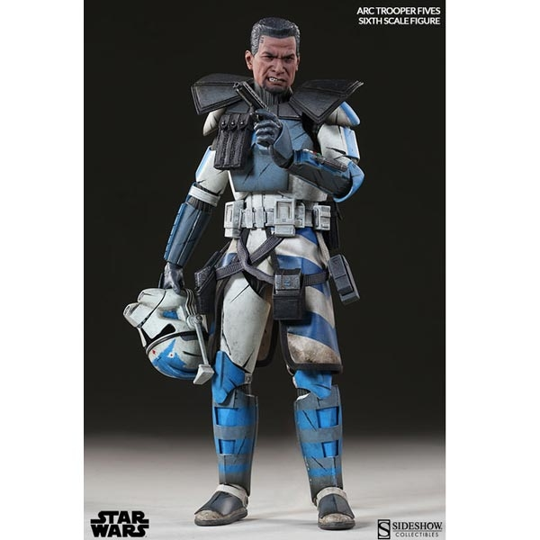 Boxed Figure: Sideshow Star Wars Arc Clone Trooper: Fives Phase II Armor  (100204)