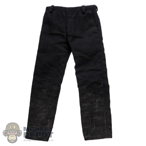 Pants: Burning Soul Mens Black Weathered Pants
