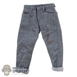 Pants: Blitzway Mens Faded Cuffed Jeans
