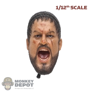 Head: By Art 1/12th King of Sparta (Screaming)