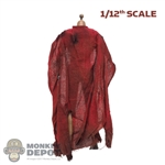Cape: By Art 1/12th Mens Red Hoodless Cloak (Weathered)
