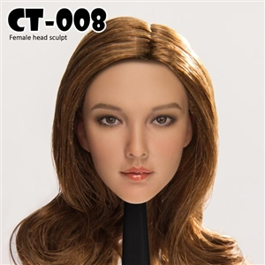 Head: Cat Toys Female Head w/Brown Hair (CAT-008C)