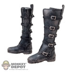Boots: Cat Toys Female Black Weathered Boots