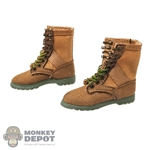 Boots: Cat Toys Female Brown Tactical Boots