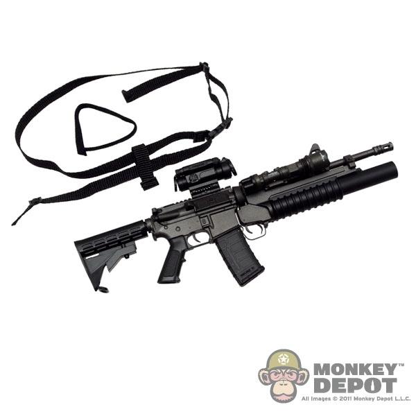 Monkey Depot - Rifle: Crazy Dummy M249 Para w/ AR Stock