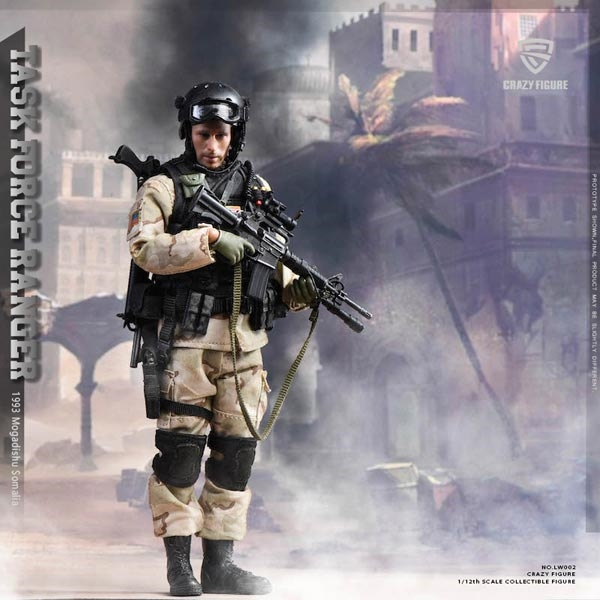 CrazyFigure 1//12 US Miliary Special Force ASOC LW002 Solider Action Figure Toy